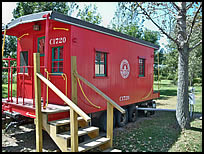 caboose rental at Caboose Lake Campground