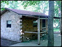 camping cabin at Gordon's Campground