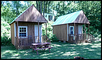 camping cabin at Indian Springs Campground
