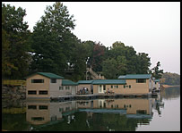 Patoka Lake Marina floating cabins